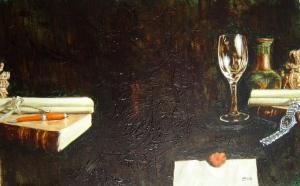 Mark Holsworth, History, 2008, oil on wood
