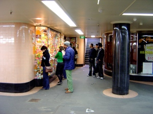 People interacting with Absence in Campbell Arcade
