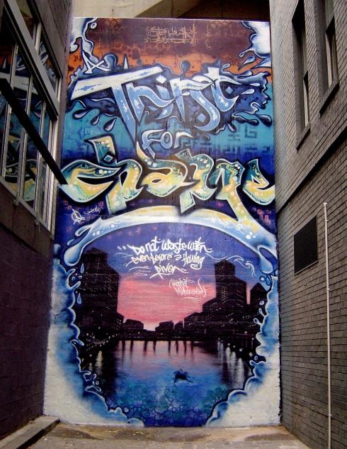 Aerosol Arabic, Thirst for Change, Sparks Lane, Melbourne