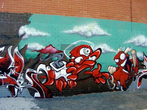 Street art near Brunswick Station