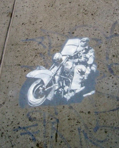 Harley Rider stencil in East Richmond