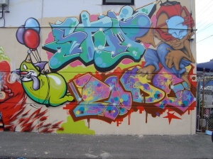 Court Jester wall, Breeze St. Brunswick