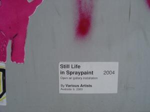 Still Life in Spraypaint (Fortitude Valley)