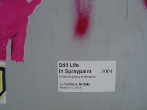 Still Life in Spraypaint (Fortitude Valley)