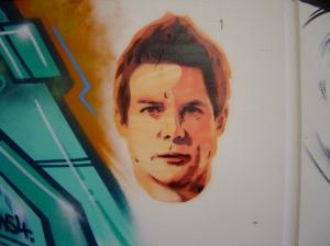 HaHa stencil in Underground