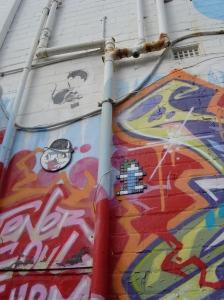 Banksy, Parhan  wall, 2011, pre-plumbing changes
