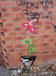 throw-up flower, Coburg 2011