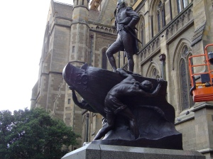 Charles Web Gilbert, Matthew Flinders Memorial, Melbourne