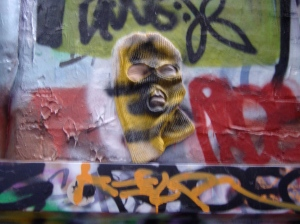 Will Coles mask in Rutledge Lane