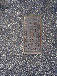 Brass ticket outside Brunswick Town Hall