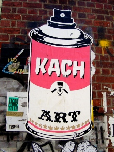 Kach paste-up, Melbourne, 2012