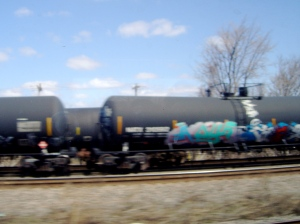 Railway graffiti Canada