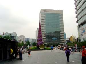 Claes Oldenburg and Coosje van Bruggen sculpture in Seoul