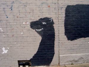 Altered buffing, unknown artist, Brunswick, 2011