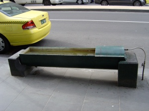 Horse trough in Melbourne's CBD