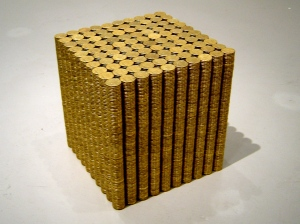 Andrew Liversidge, IN MY MIND I KNOW WHAT I THINK BUT THAT'S ONLY BASED ON MY EXPERIENCE, 2009, 10,000 $1 coins