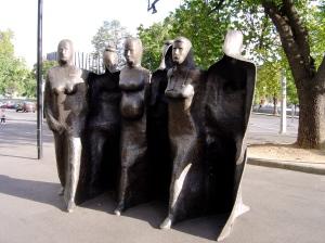 Michael Meszaros's sculpture at Royal Melbourne Hospital