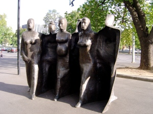 Michael Meszaros's sculpture at Royal Melbourne Hospital