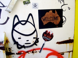 Phoenix welcome mat sticker with Ghostpatrol tag.