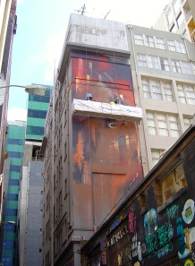 Adnate at work in Hosier Lane
