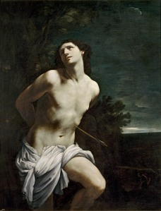 Guido Reni, Italian 1575–1642, Saint Sebastian (San Sebastiano) 1615–20, oil on canvas, 170.5 x 133.0 cm Museo Nacional del Prado, Madrid (P00211) Spanish Royal Collection