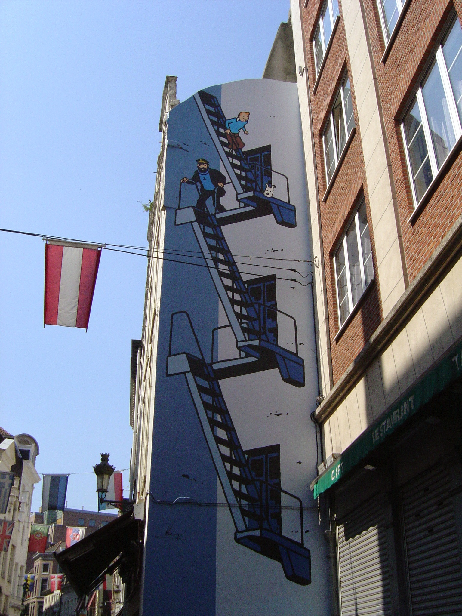 Brussels wall 3 Tintin