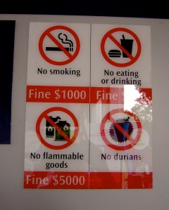 No Durians