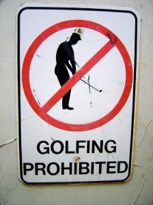 No Golfing