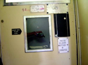 Interior of Photo Booth at Flinders Street.