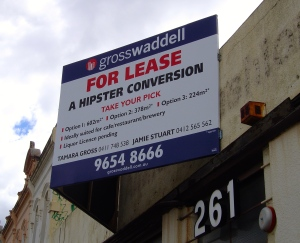 A Hipster Conversion for lease in Brunswick