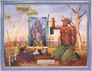 Juan Davila A Bush Burial, 2000