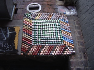 Bottle cap mosaic