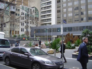 The forecourt on Lt. Collins Street
