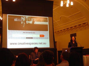 Eleni Arbus at The future of arts in Melbourne forum
