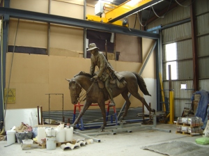 Louis Laumen Boer War equestrian at Fundêre Foundry