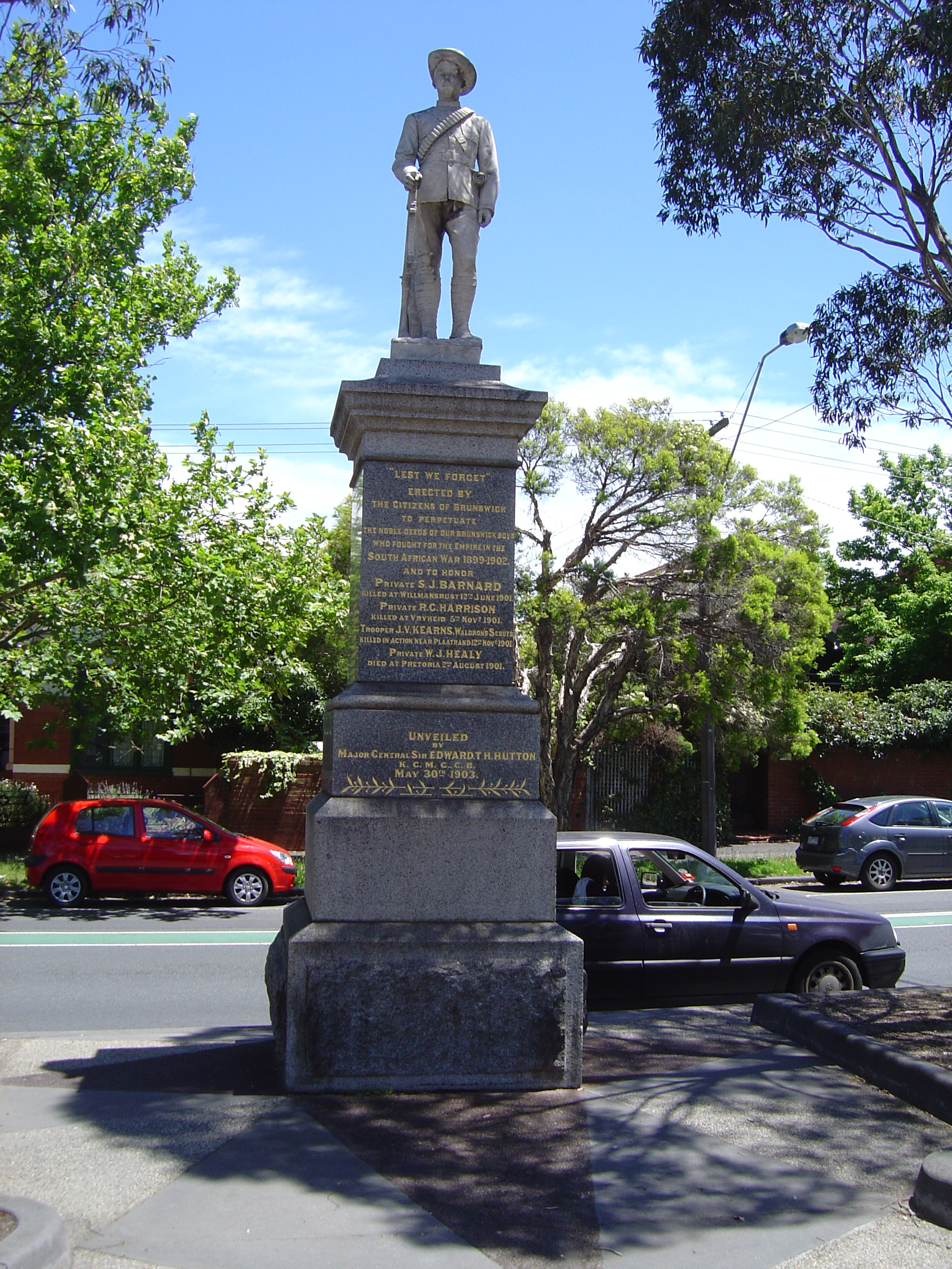 R. George Summers, Brunswick Beor War Memorial, 1903 2