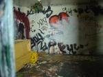 Detail of interior of Abandoned House in Hosier Lane