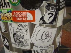 Various stickers, Melbourne