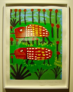 Trevor 'Turbo' Brown, Echidnas, 2011 screen print