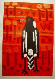 Trevor 'Turbo' Brown, Magpie, 2011 screen print