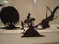 Kara Walker Burning African Village Playset with Big House and Lynching (detail)